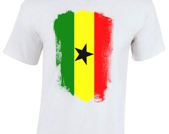 Ghana Retro Distressed Flag Children's T-Shirt Youth T-Shirt World Cup 2014 Memorabilia