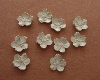forget me not sterling silver flower castings raw silver cast flowers for silversmiths UF001-10