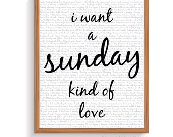 I Want a Sunday Kind of Love | Etta James | 8 x 10 Wall Print | Digital Art File