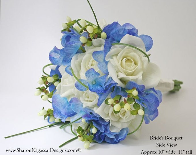 Green/Blue bouquets/sets - Sharon Nagassar Designs . weddings . prom ...