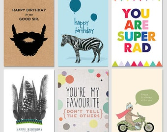 Gift Cards - 6 Pack Mix Birthday