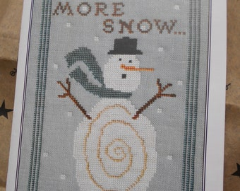 """Artful Offerings - """"More Snow...Oh! No!"""" Cross Stitch graph"""