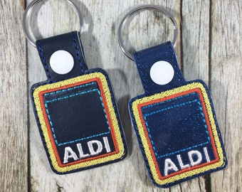 Aldi Keychain, Quarter Keeper, Aldi Quarter Holder, Aldis, Aldi, Keyfob, Mom Gift, Aldi Quarter Keeper, Aldis Keychain, Funny Gift, Friend