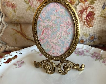 Victorian Chic Ribbon Oval Gold Picture Frame