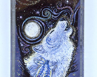 Howling White Magical Wolf Pendant
