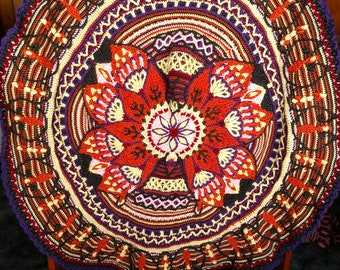 Butterfly Flower Crocheted Afghan