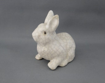 Vintage Rabbit with a Crackle Finish