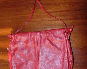 Vintage Red Leather Purse Handbag