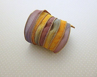 Ribbon color No. 760 hand dyed silk