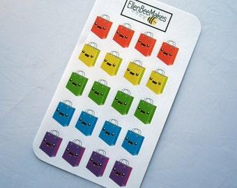 Kawaii Rainbow Shopping Bag Stickers