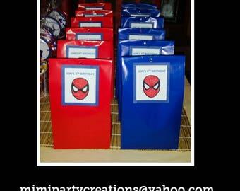 Sacs de faveur d'anniversaire Spiderman - paquet de 10