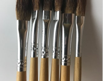 Paint brushes, Natural hair brushes, Flat Brushes, Craft Brushes, Makeup, FacePaint