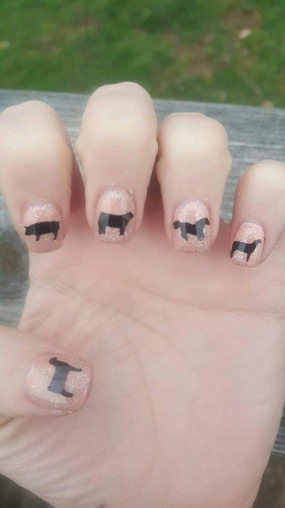 Livestock nail decals, stock show, 4H, FFA, Farm girl, FREE SHIPPING ...