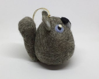 Needle Felted Squirrel Hanging Decoration