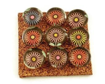 Push Pins  Cork Board Pins  Thumb Tacks in  Midnight Bloom (P16)