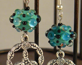 Peace and Water Drops Earrings