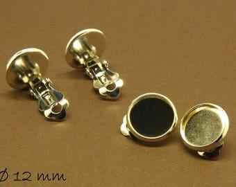 Earrings blank Silver, 12 mm version