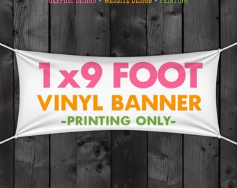 Vinyl Craft Show Banner - 1x9 Foot Banner for your Tent or Table