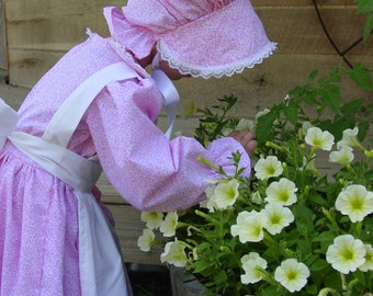 WeHaveCostumes Modest Quality Homemade Historical Costumes-Pink Pioneer- Girl sizes up to 14