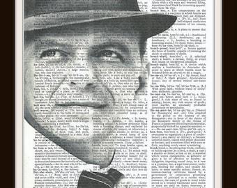 Frank Sinatra - Vintage Dictionary Art Print--Fits 8x10 Mat or Frame
