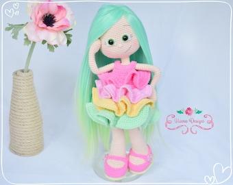 Crochet Pattern - Emily Doll with New Dress (Amigurumi Doll Pattern)