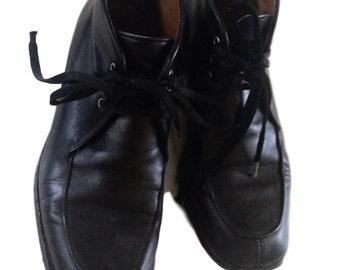 SALE: Marconi Black Leather Shoes (Size 36.5)