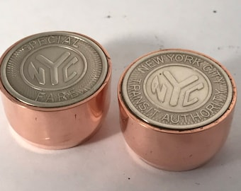 Special Subway token used from Aqueduct Race track to NYC volume and tone control guitar.