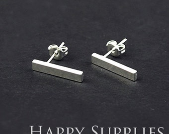 10pcs (5 pairs) Nickel Free - High Quality Silver Brass Earring Post Findings (ZE163) Perfect to make Personalized Initial Earring