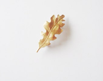 Gold Oak Leaf Barrette Bridal Hair Clip Bridesmaid Botanical Nature Garden Rustic Woodland Wedding Vintage Style Accessories Womens Gift