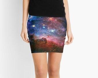 Carnia Nebula Pencil Skirt, Mini Skirt, 7 Sizes Available!