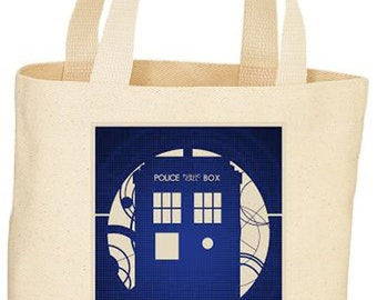 Custom Dr. Who Tote bag market bag
