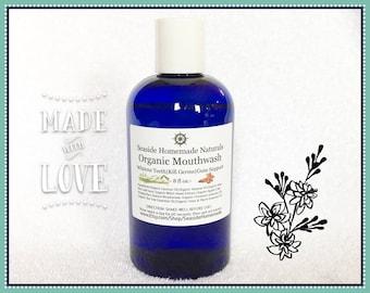 ORGANIC MOUTHWASH, Teeth whitening, Antibacterial, Organic Essential Oils, Organic Oils, Healthy, Vegan, Mouth Rinse, Seaside Homemade
