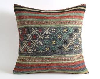 20x20 southwestern pillow, turkish pillow, vintage pillow, pillow covers, tribal pillow cover, home and living