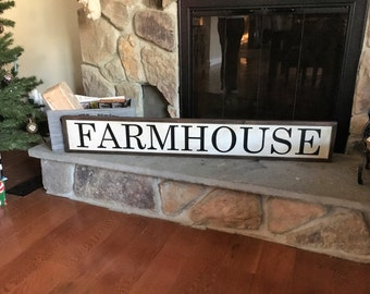 "Shabby Chic Wood Art with ""Farmhouse"" FREE SHIPPING!"