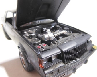 BuickGranNational,ScaleModelCar,124Scale,BlackCar,RustedWreck,OOAK,JunkYard,MuscleCar,