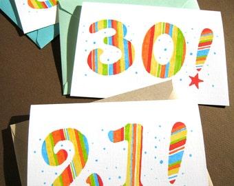 Custom birthday card etsy custom birthday card any age or milestone birthday personalized birthday card bookmarktalkfo Images