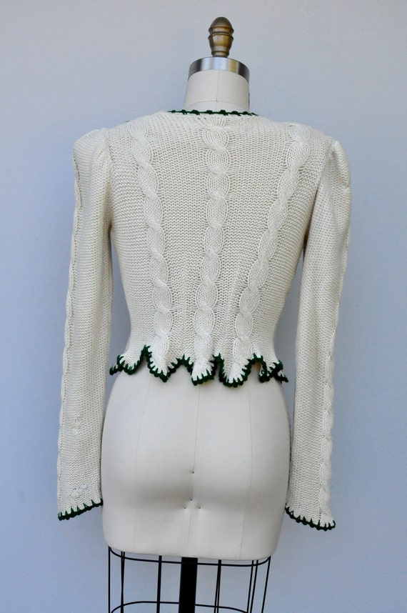 S Sweater Bavarian Sweater Sweater RARE M Embroidered Cardigan 40s SALE 40s Vintage Collectible Cardigan Cardigan Dirndl Knit 1EnqwHZ
