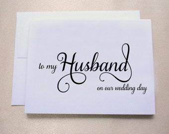 wedding day card for groom wedding day card for husband
