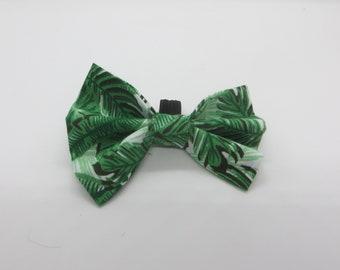 Palm Tree Dog Bow Tie