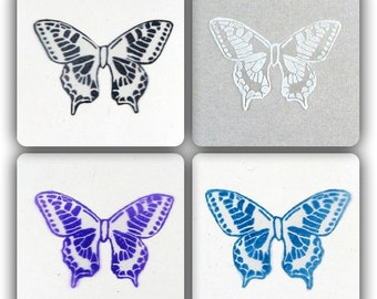 wings transparent butterflies 5 cm varnished patterns - m-scrapbooking, cardmaking, figurines, decorative floral, Home Decor made in France