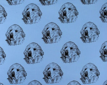 """Great Pyrenees Dog Fabric BEST All Cotton Ever""""Feels Like Silk""""Northcott/Hot Diggity Dog/Craft Supplies and Tools/Fabric and Notions/Fabric"""