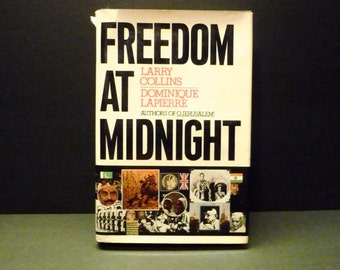 Freedom At Midnight ~ Simon &Schuster New York 1975~ 1st Edition Hardcover