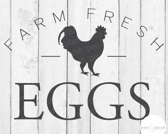 Farm Fresh Eggs SVG - Farm Fresh Eggs - Farmhouse SVG - Farm Fresh SVG - Fresh Eggs svg - Farm svg - Farmhouse svg - Fresh Eggs