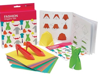 FASHION ORIGAMI SET - Origami Fashion Set with 100 sheets of origami paper and instruction booklet
