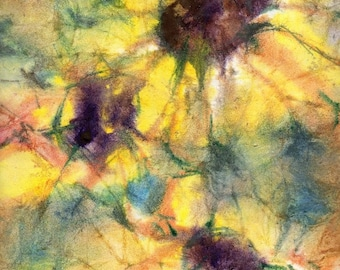 Batik Style No.44/Flowers, limited edition of 50 fine art giclee prints
