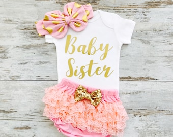 Baby Girl Clothes, Baby Girl Coming Home Outfit, Baby Girl Clothes Newborn, Baby Girl Coming Home Outfit Winter, Little Sister Outfit