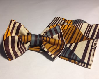 Jojo bow tie and pocket square set