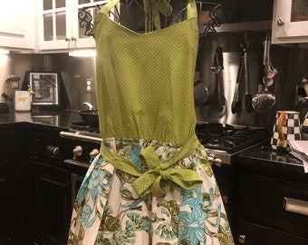 Apron , done in up cycled fabric