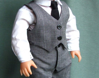 "Boys Formal Outfit -Fits 18"" American Girl Dolls, Madame Alexander, Our Generation, etc. 18 Inch Doll Clothes"