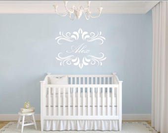 Personalized Baby Name for Nursery Vinyl Wall Decal Sticker Decor - Multiple Color Options